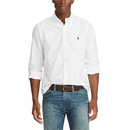 Polo Ralph Lauren Camicia Oxford b/d in Cotone Bianco, M