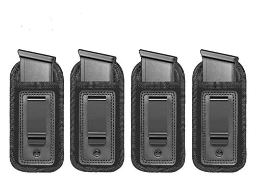 4-Pack Universal IWB Magazine Holster Concealed Carry 9mm...