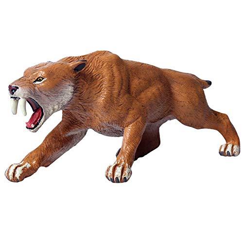 FLORMOON Tigre dai Denti a sciabola Figurine Realistico Tiger Giocattolo Figura Animale Giocattoli educativi precoci Progetto di scienze Natale Regalo