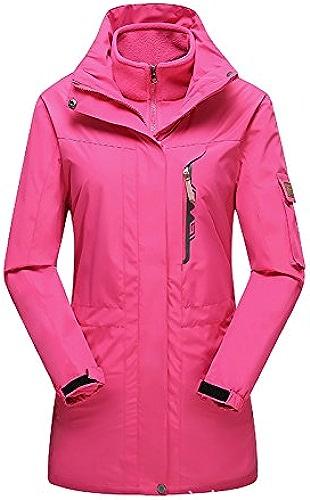 FYM Vestes DYF Ski Hommes Femmes Down veste Coat Couleur Unie Grande Taille Manches Longues col,W-R-Rouge,4XL