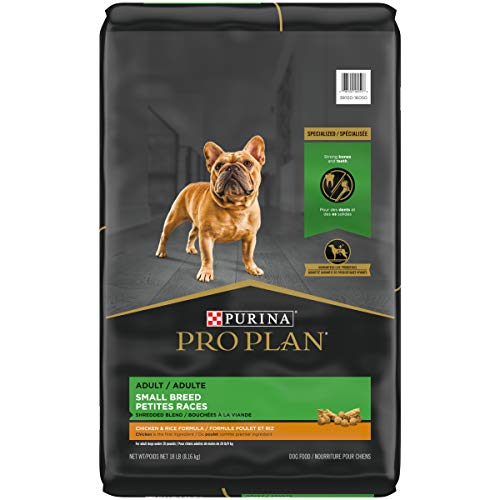 Purina Pro Plan With Probiotics, Small Breed Dry Dog Food, Shredded Blend Chicken & Rice Formula - 18 lb. Bag