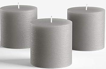 Best grey pillar candles Reviews