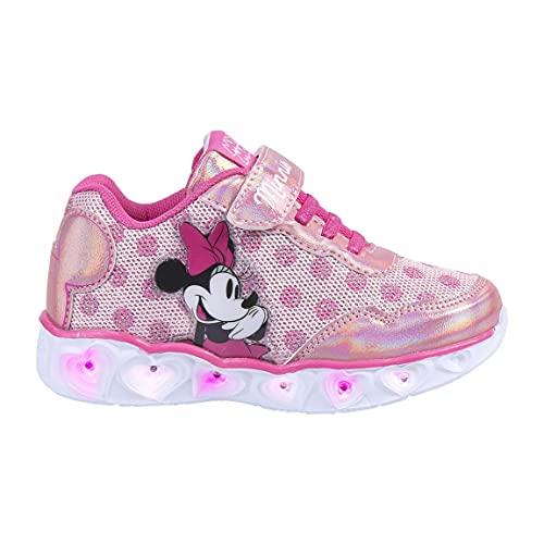 CERDÁ LIFE'S LITTLE MOMENTS, Zapatillas con Luces Niña de Minnie-Licencia Oficial Disney Niñas, Rosa, 29 EU