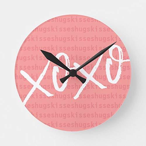 None Brand Xoxo - Reloj redondo rosa
