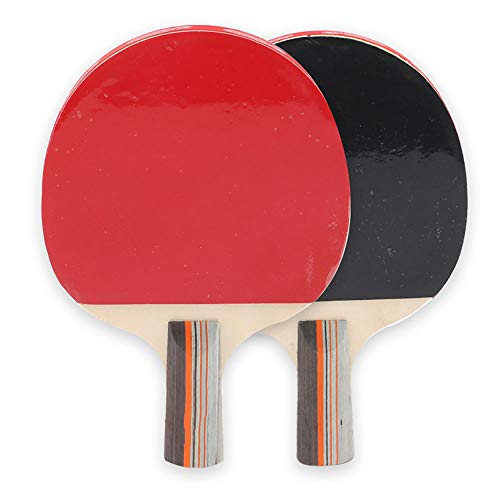 Y-H Raqueta de tenis de mesa de madera maciza de doble cara anti-adhesivo deportes competencia equipo de entrenamiento dos tiros tres bolas tiro recto