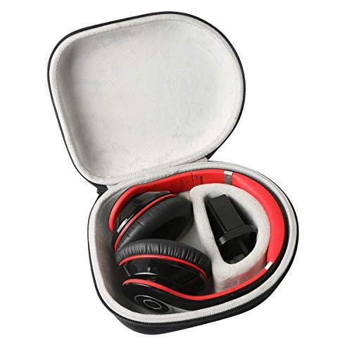 Khanka Duro Viaje Estuche Bolso Funda para Mpow H7 Cascos Bluetooth Inalámbrico Auriculares Diadema Cerrados con Micrófono
