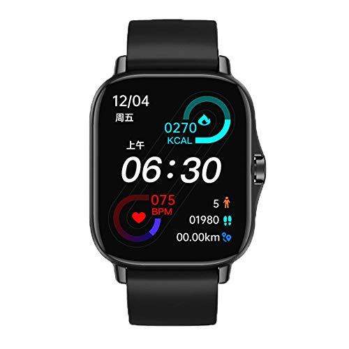 Bluetooth Smartwatch,Reloj Inteligente Impermeable Monitor Frecuencia Cardíaca, Monitor Sueño, Podómetro Seguimiento Actividad Física Pantalla Táctil