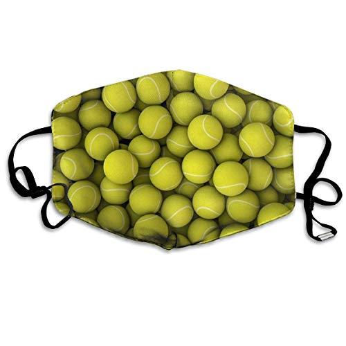 Atmungsaktive Premium Gesichtsschutzhülle,Gelbe Tennisbälle Frauen Männer Windabweisende Schutzhülle Gegen Skifahren Camping Reisesicherheit, Täglicher Gebrauch