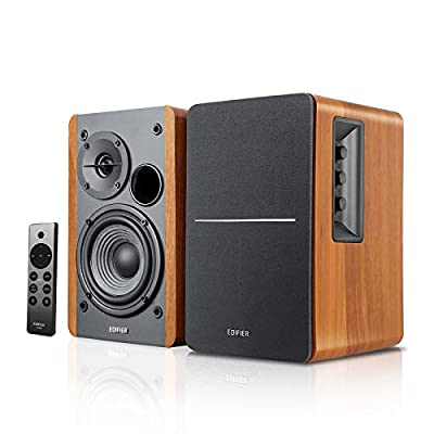 Edifier R1280DBs Active Bluetooth Bookshelf Speakers - Optical Input - 2.0 Wireless Studio Monitor Speaker - 42W RMS with Subwoofer Line Out - Wood Grain from Edifier