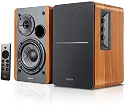Edifier R1280DBs Active Bluetooth Bookshelf Speakers - Optical Input - 2.0 Wireless Studio Monitor Speaker - 42W RMS with Subwoofer Line Out - Wood Grain