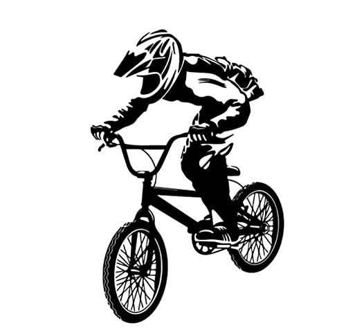 Deporte bicicleta niño pegatinas de pared extraíble etiqueta de la pared papel tapiz DIY decoración de dormitorio niños niñas calcomanía Mural PVC impermeable sportposter pegatinas de gimnasio 43x65cm