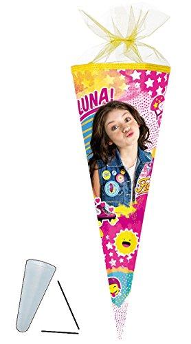 alles-meine.de GmbH Schultüte -  Disney - Soy Luna  - 85 cm - eckig - Tüllabschluß - Zuckertüte - Nestler - mit / ohne Kunststoff Spitze - für Mädchen - Valente - Sol Benson / ..