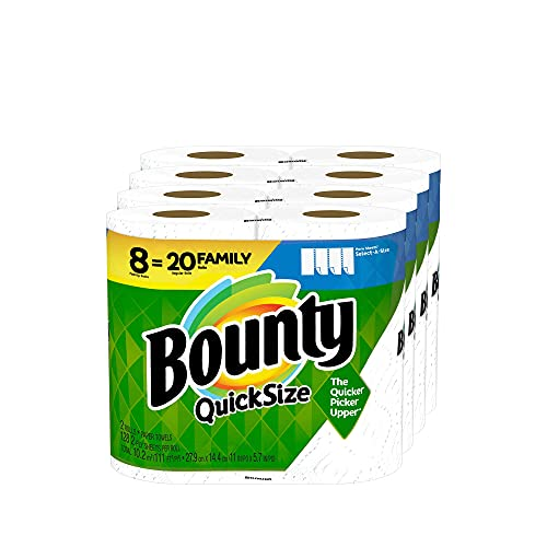 Quick-Size Paper Towels, White, 1 Pack (8 Family Rolls) = 20 Regular Rolls Limited Edition