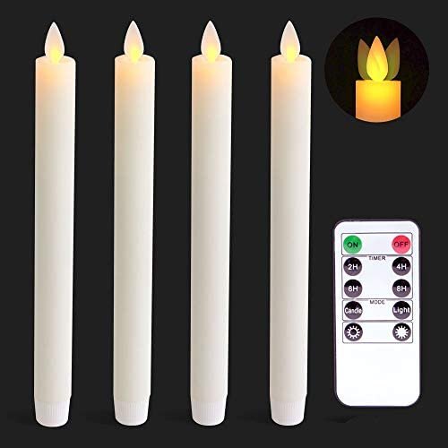 Wondise Remote Flameless Flickering Taper Candles Battery Operated with Timer Moving Wick Unscented product image
