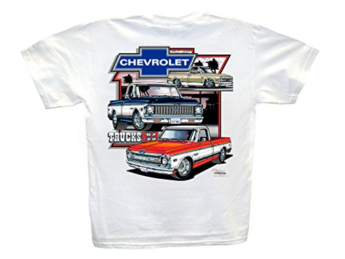 Chevy Trucks 1967-1972 White T-Shirt: XL - 1968 1969 1970 1971 Cheyenne Super C/K C-10 Chevy