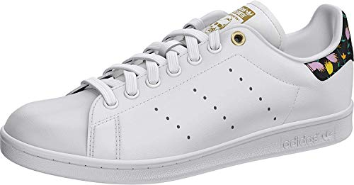 adidas Stan Smith W, Zapatillas para Mujer, FTWR White/Core Black/Gold Met, 38 2/3 EU