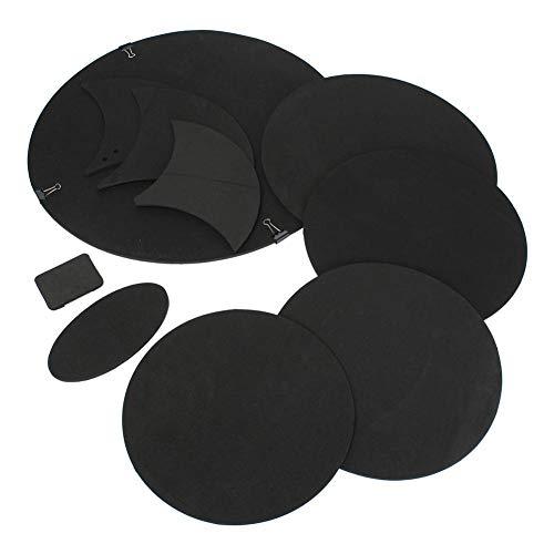 Schlagzeug-Schalldämpfer-Pad-Set für Shaw Schlagzeug-Pads, Übungspads, Schlagzeug-Kit, Gummi-Übungsstummel, Gummi-Schaumstoff-Pads, Anzug für Schlagzeuger, 10 Stück