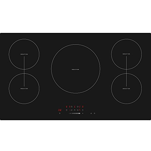 Cookology CIT901 90cm 5 Zone Built-in Touch Control Induction Hob in Black