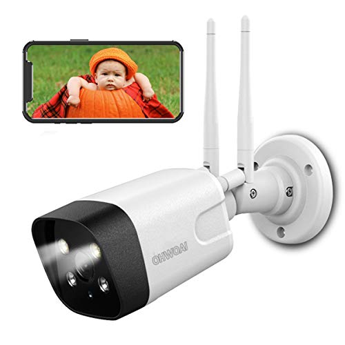 [Floodlight&Truly Camera] Wireless Security Camera,3MP Home Surveillance Camera with Floodlights,OHWOAI Outdoor Wi-Fi Camera,AI Human Detection,Two-Way Audio,Color Night Vision,IP66 Waterproof