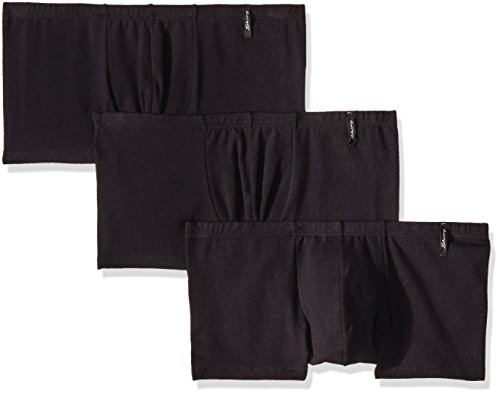 Skiny 77041 Boxer Corto 3Pack para Hombre, Color Negro, Grande