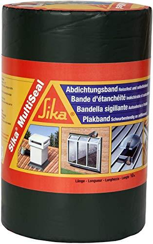 Sika Multiseal SG, Gris, Banda autoadhesiva bituminosa soporte múltiple, para reparación de cubiertas y fisuras en edificios, 30cm x 12ml