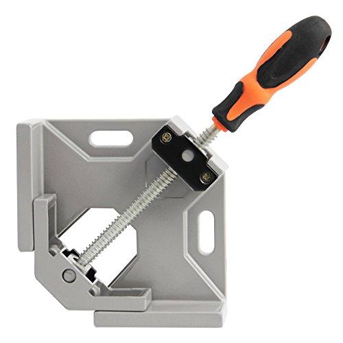 SAND MINE 90 Degree Corner Clamp, Corner Clamp Adjustable Vise for Wood-working, Engineering, Welding, Carpenter, Photo Framing (Grey)