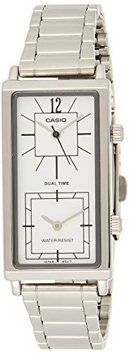 Casio Ltp-e151d-7b Reloj Analogico Para Mujer Caja De Metal Esfera Color Gris