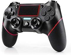 JAMSWALL Mando Inalámbrico para PS4, Mando para PS4/Pro/Slim, Controlador inalámbrico, Gamepad Wireless Bluetooth Controlador Joystick con Vibración Doble/Turbo/Puerto de Audio/Pantalla LED