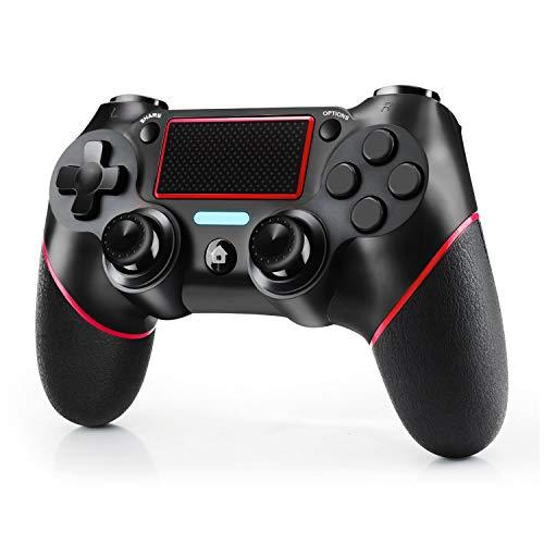JAMSWALL Controller für PS4, Wireless Controller für PS4/PS4 Slim/PS4 Pro, USB Controller für PC, Touchpanel-Spielbrett mit Dual-Vibration - und Audiofunktionen, Anti-Rutsch-Griff und Mini-LED-Anzeige