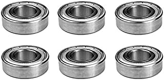 The ROP Shop (6) Bearings for Grasshopper 110080 110081 110082 414686 833210 Bearing 6205-RS1