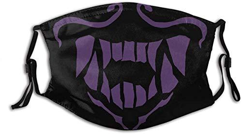 ZXCVBNMMM Unisex Magic Cosplay Traube Lila Baumwolle Mund Muffel K/DA Akali Bandana Assassine K-DA Cosplay Requisiten S10 Gesichtsgeschenke Schwarz
