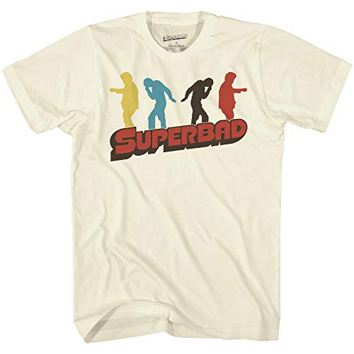 Superbad Mens McLovin Movie Shirt Movie Logo Vintage T-Shirt (Natural, Small)
