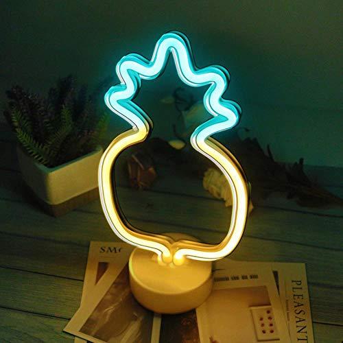 Leuke Nachtlampje Regenboog LED Neon Licht Teken Vakantie Kerstfeest Bruiloft Verjaardag Decoraties Kinderkamer Home Bureau Decor Nachtlampje Cadeau, Ananas