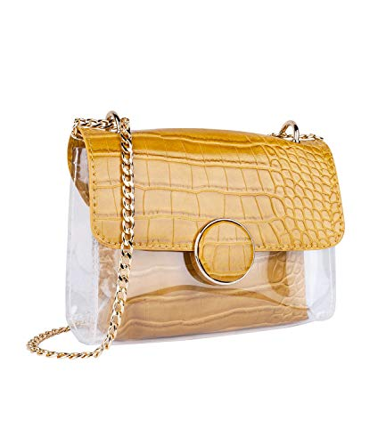 SIX Transparente Mini-Bag mit Snake-Print (726-811)