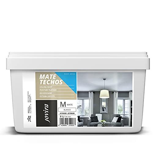 MATE TECHOS Pintura plástica mate indicada especialmente para techos (5 kg, BLANCO)