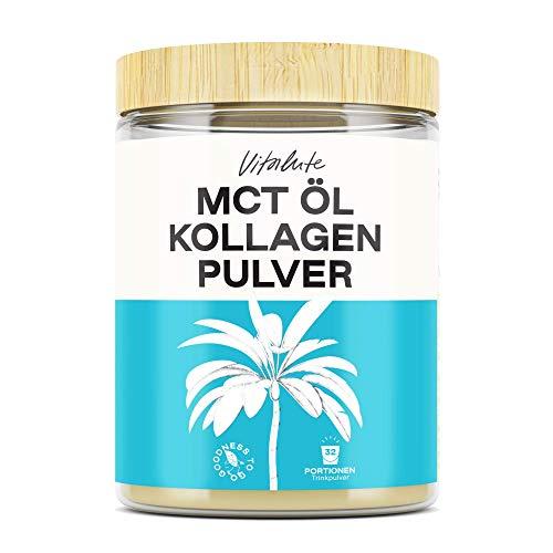 Kollagen MCT Pulver 2 in 1 Mix, 32 Portionen, 50/50 Collagen & MCT