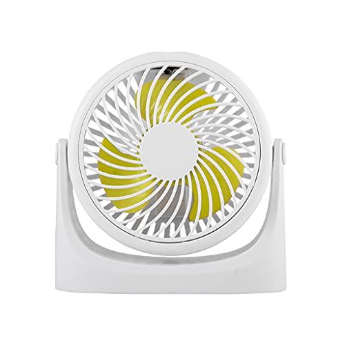 ColourQ - Ventilador de mesa pequeño con un fuerte flujo de aire, funcionamiento silencioso para casa, oficina, coche, viajes al aire libre