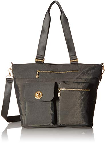 Baggallini Hong Kong Laptop Tote, One Size, charcoal