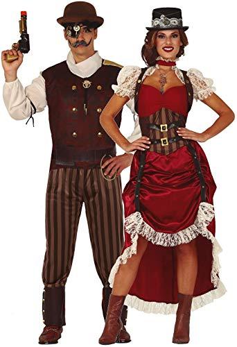 Paare passende Damen & Herren viktorianischer Erfinder Historische TV-Buch Film Karneval Fasching Kostüme