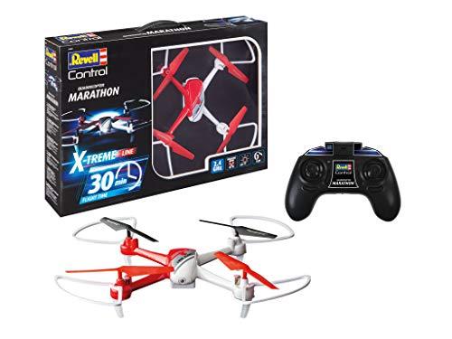Revell Control 24898 RC Quadcopter X-Treme Marathon, bis zu 30 Minuten Flugzeit, wechselbarer Akku Ferngesteuerter Quadrokopter, rot/weiß