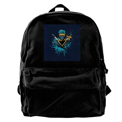 maichengxuan Mochila de lona de gamer azul ninjasHyper, mochila para gimnasio, senderismo, portátil, bolso de día para hombres y mujeres