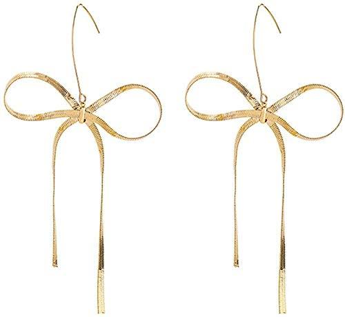 Pendientes Pendientes de lazo en forma de corazón para niña exquisita moda popular clásico temperamento ganchos para la oreja largos perso