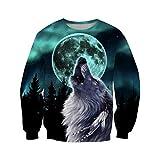 Wolf 3D Printed Unisex Deluxe Hoodie Hombres Sudadera Streetwear Zip Pullover Chaqueta Casual Chándal Sweatshirt 2XL