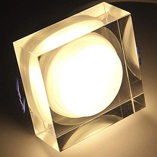 FGHHT Nachtlampje 5W/6W/7W LED Vierkante Downlights Acryl Plafond Inbouw Spot Licht