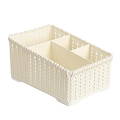 Woven storage box, plastic storage basket deskt...
