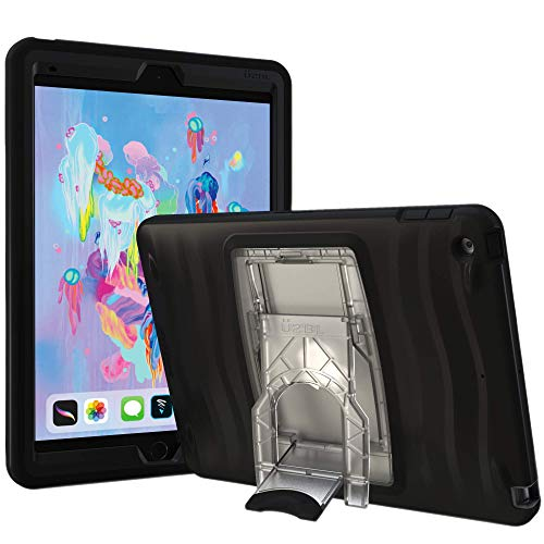 UZBL iPad 10.2 Case, Shockwave v2 Heavy Duty Rugged Case with Screen Protector and Removable Kickstand for iPad 10.2 Gen 7 (Black)