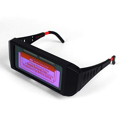Lashelm Auto lasfilters Mask Helmet Eye Bril Welding Bril Arc Automatische hoofd veranderende glazen QPLNTCQ