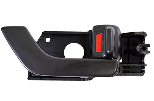 PT Auto Warehouse HY-2508A-FR - Inside Interior Inner Door Handle, Black - Passenger Side Front