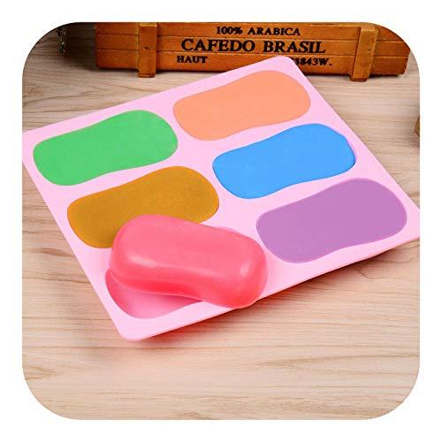 Cortadores de jabón para hacer jabón Molde de jabón ovalado Moldes de jabón de silicona 3D para hacer jabones Forma de barra de jabón hecha en casa DIY Moldes de pan de color aleatorio,