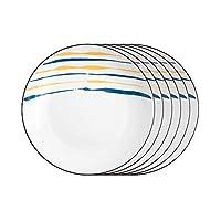 ディナープレート クリエイティブディナープレートセット2/4/6ピースキッチン食器台丸セラミックディナープレート - 電子レンジ、オーブン、食器洗い機セーフ ランチョンプレート (Color : C, Size : Small)